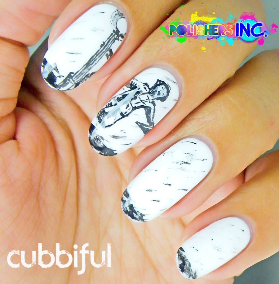 31DC2014 Black and white nails