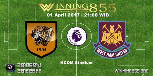 Prediksi Skor Hull City vs West Ham 01 April 2017