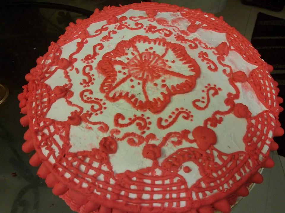 N Mehndi Cake : Kanwal s kitchen blog: mehndi design cake