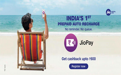 Jio Auto Recharge : Get UP TO Rs 600 Cashback On Using Jio AutoPay