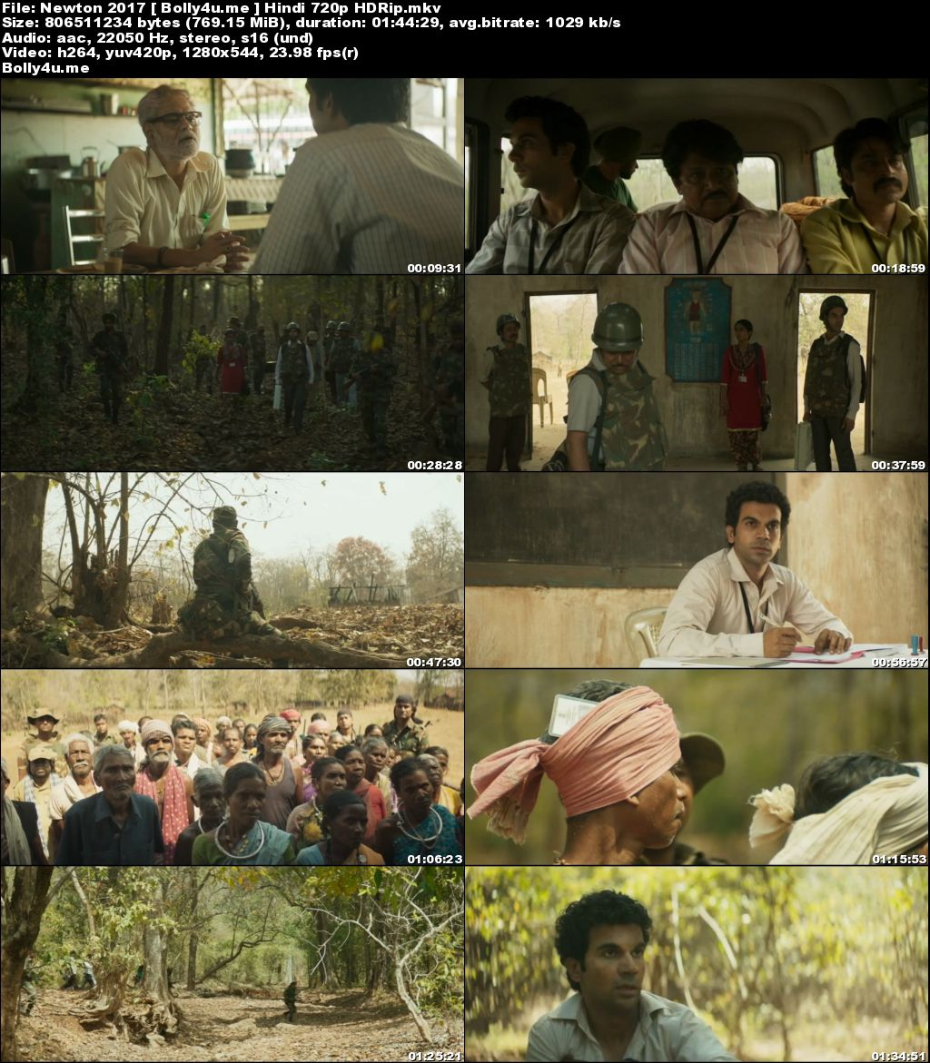 Newton 2017 HDRip 750MB Hindi Movie 720p Download
