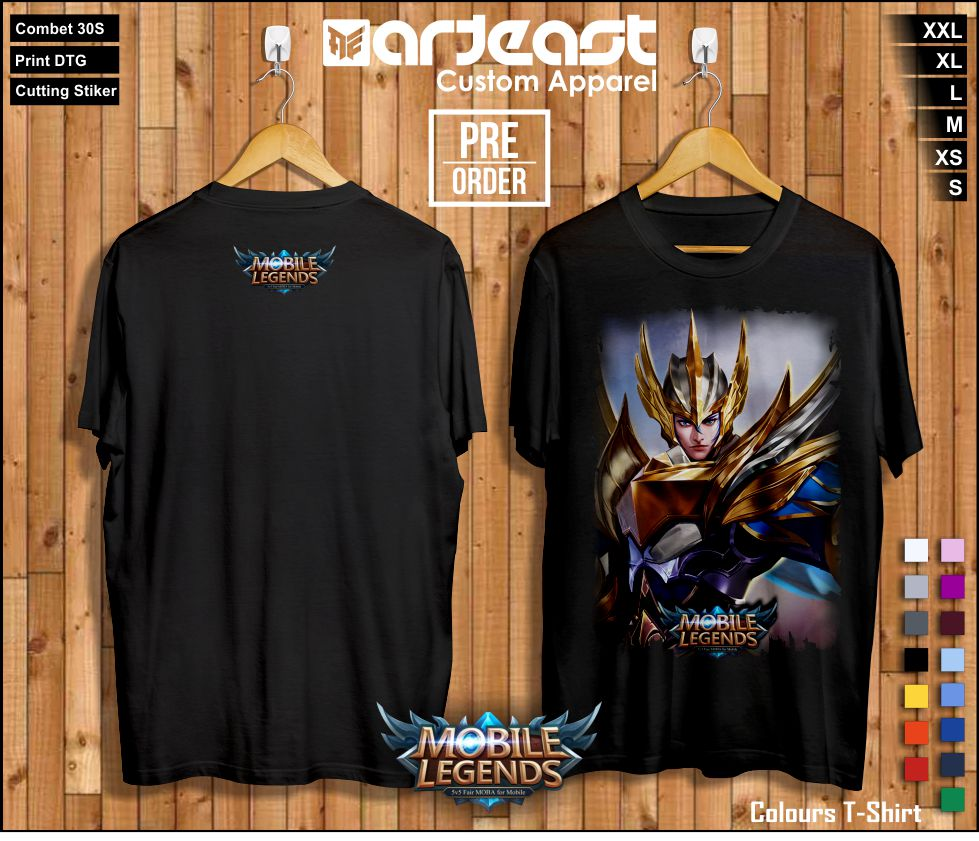 Kaos Spesial Hero Mobile Legends Print Dtg Arteast Custom