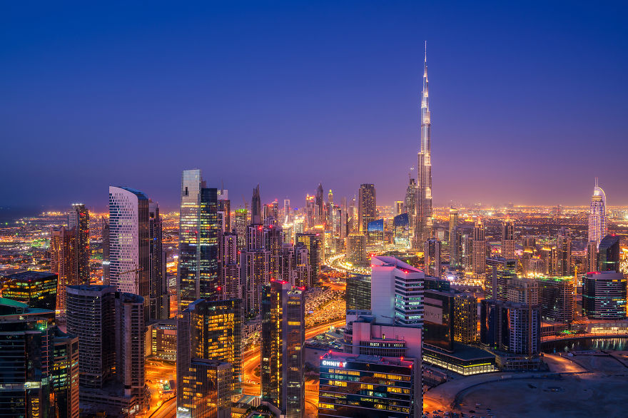 A Million Lights - Night-Time Dubai Looks Like It Came Straight From A Sci-Fi Movie