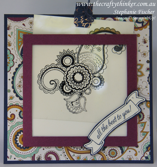 Stampin Up, #thecraftythinker, Magic Card, Paisleys & Posies, Fun Fold, Stampin Up Australia Demonstrator, Castle Hill NSW