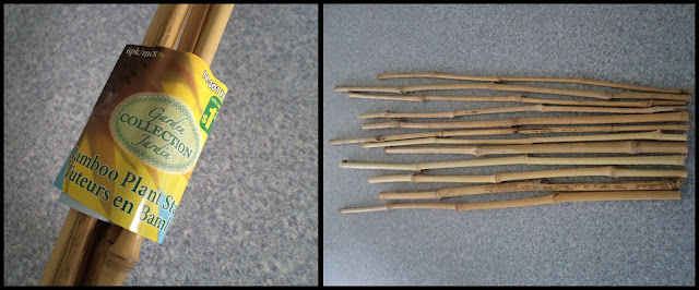 bamboo plant stakes from Dollarama