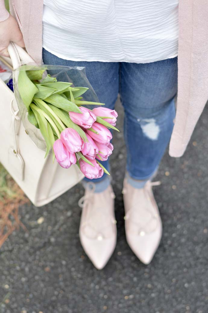 Pretty Pink Flowers Handbag A Blonde's Moment