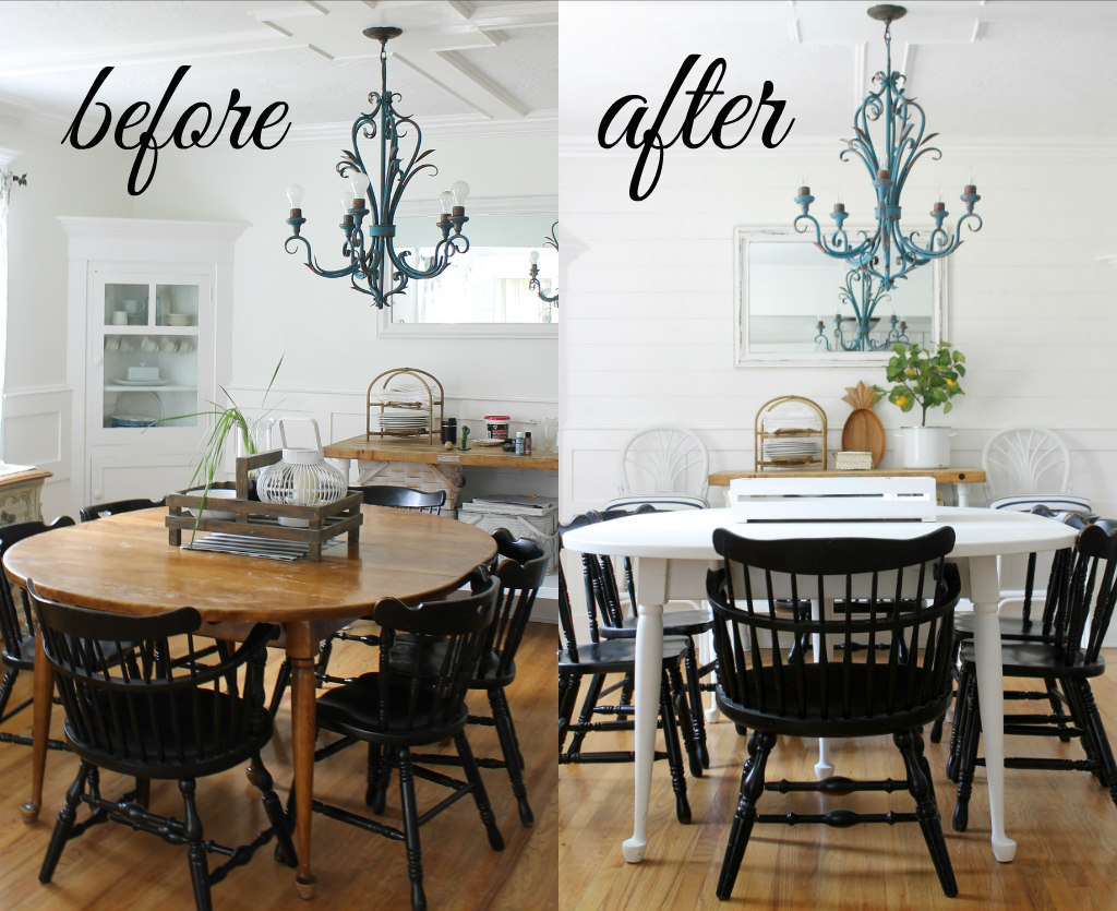Our Painted Dining Room Table The Wicker House