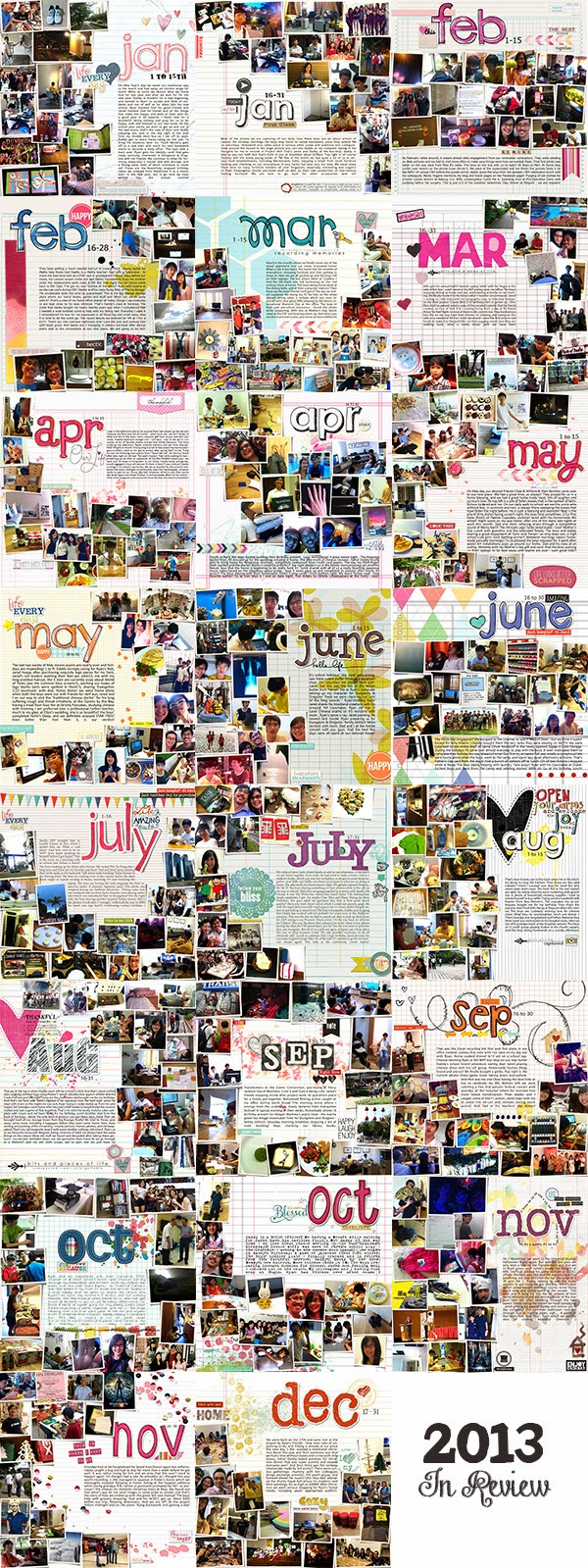 Monthly templates P365 a photo a day