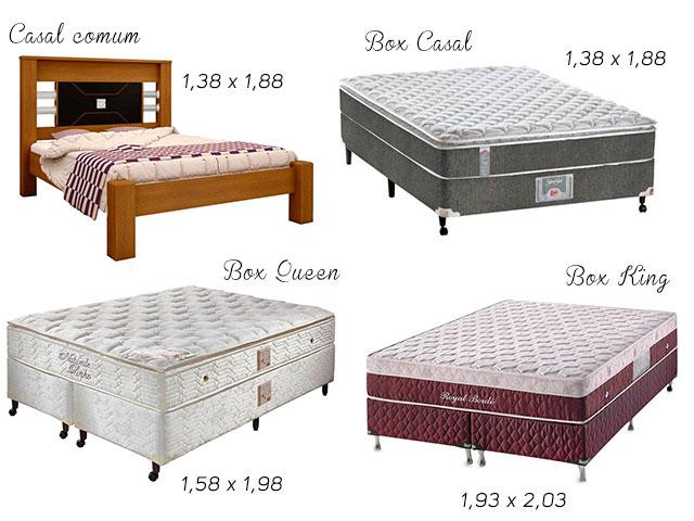 tamanho das camas box e comum