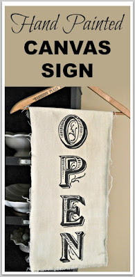 canvas open sign pinterest pin