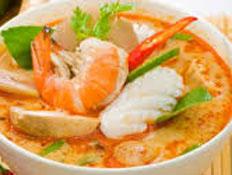 Resep praktis (mudah) tom yam seafood spesial (istimewa) khas Thailand enak, gurih, sedap, nikmat lezat