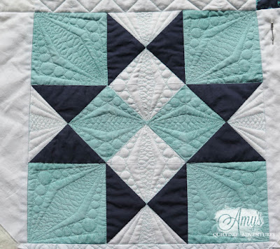 Quilting diamons a ruler work design