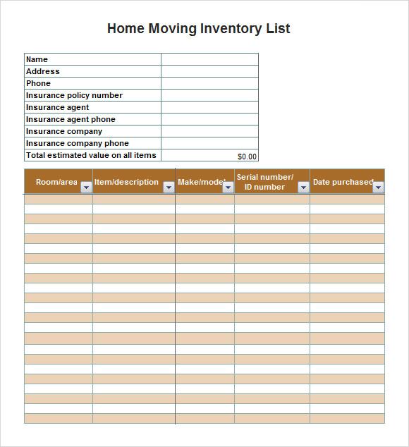 unfurnished property inventory form
