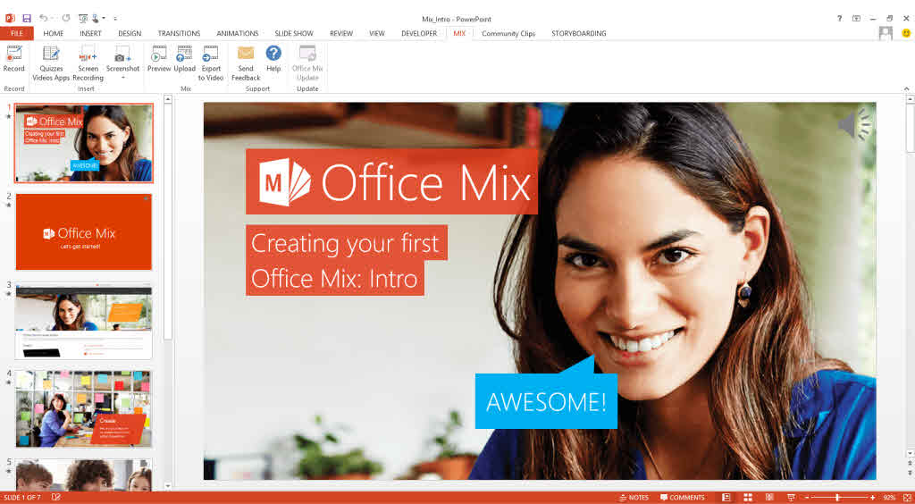 microsoft office mix