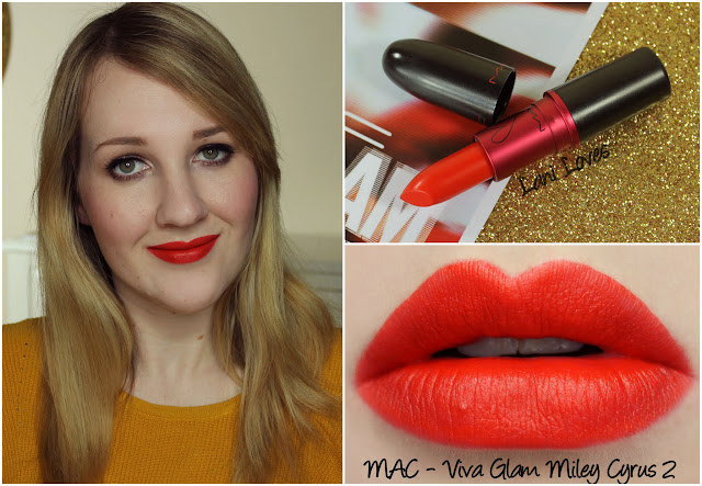 MAC Viva Glam Miley Cyrus 2 lipstick swatch
