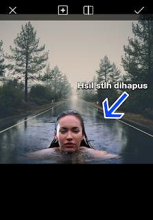 Edit foto manipulasi berenang di jalan