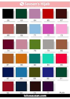katalog warna bahan jilbab sausan