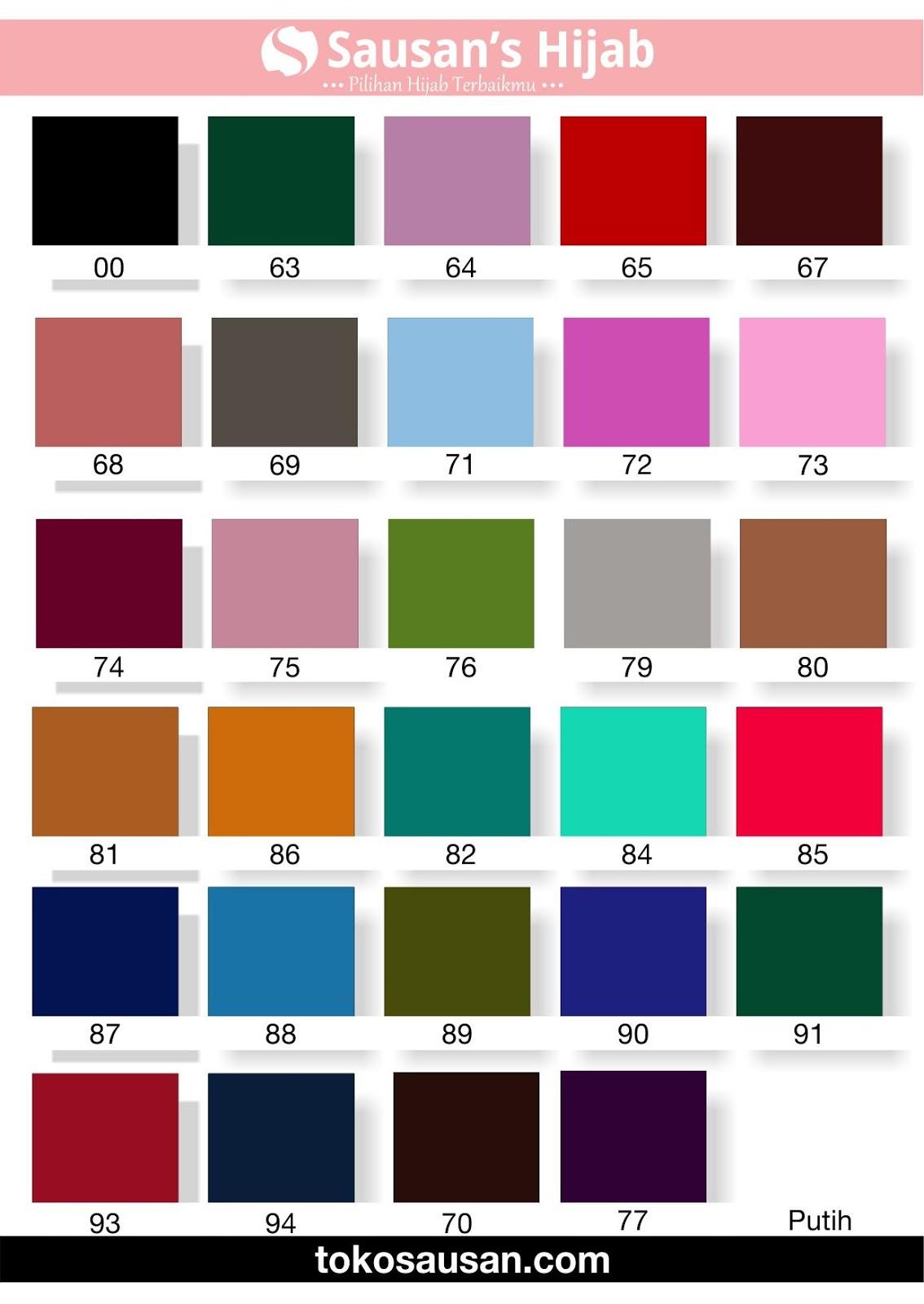 Mengenal Warna Warna Bahan untuk Jilbab Sausan Jilbab