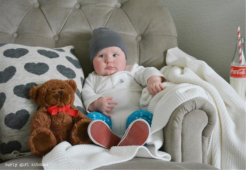 Valentine's Day Baby Boy Photography