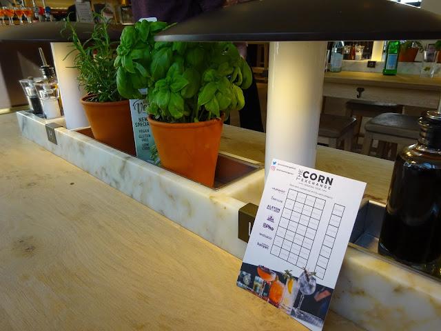 Centre Piece and Corn Exchange Cocktails Scorecard