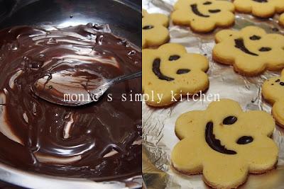 mengisi coklat sugar cookies