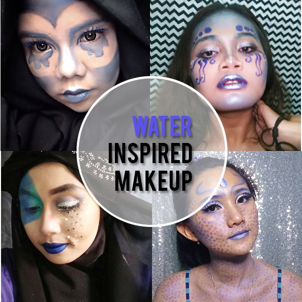 water inspired makeup look