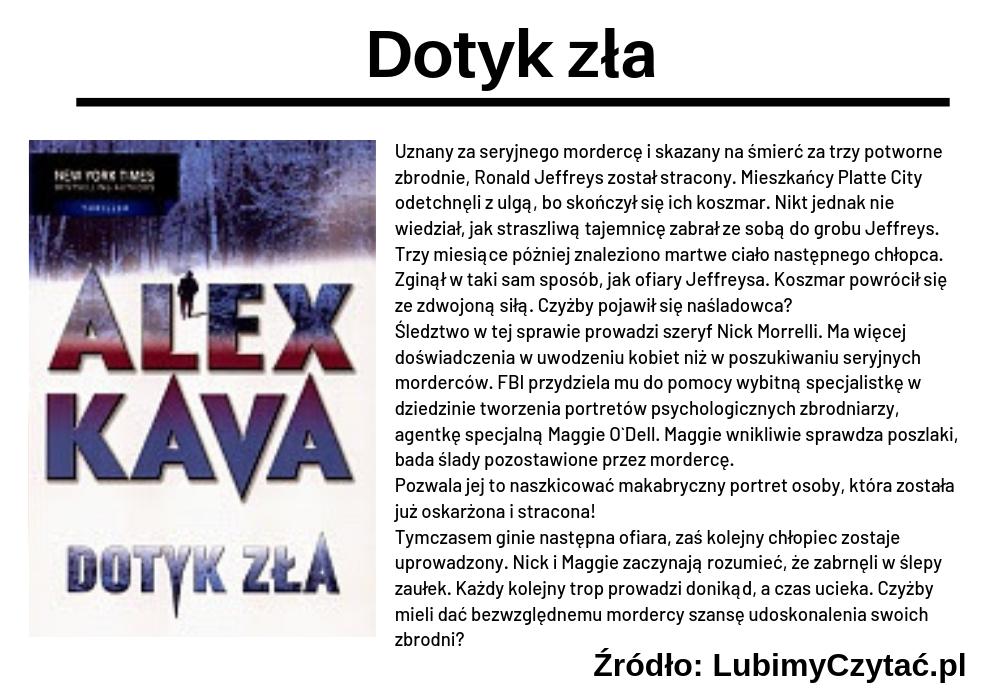 Alex Kava, Dotyk zła, TOP 5, Marzenie Literackie