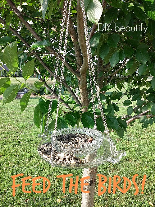how to make a thrifted bird feeder DIY beautify