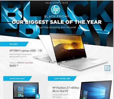 HP Black Friday 2017 Ad