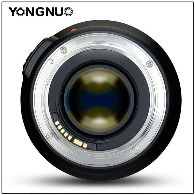 Yongnuo YN 35mm f/1.4, вид сзади