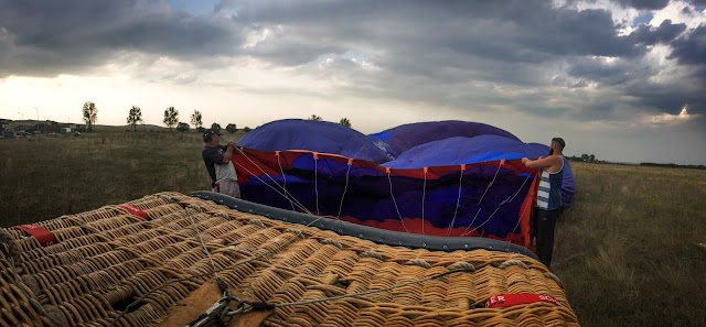 Hot-air ballooning in Transylvania, Romania