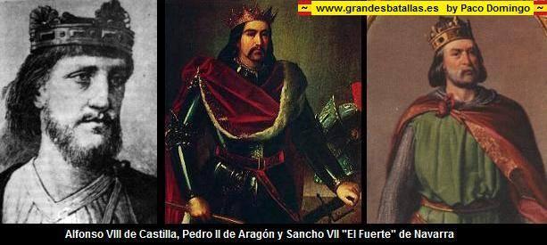 """En la crucial batalla de Las Navas de Tolosa (1212) consta que participaron los reyes Alfonso VIII de Castilla, Pedro II de Aragón y Sancho VII de Navarra pero ningún """"rey de Cataluña"""" ¿O es que se perdió por el camino?"""
