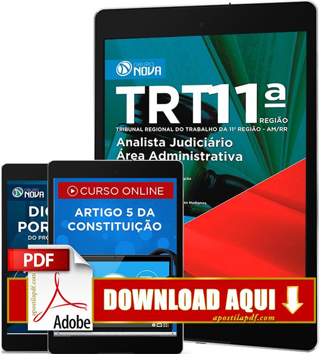 Apostila TRT AM 2016 PDF Download Analista Judiciário Área Administrativa