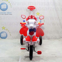 family unicorn boncengan sepeda roda tiga