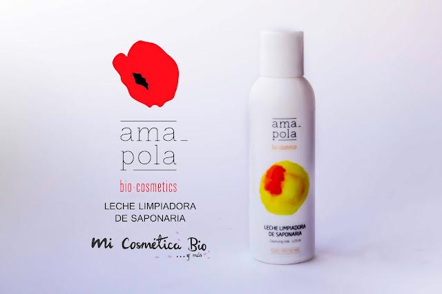 Leche limpiadora de Saponaria de Amapola Bio-cosmetics. Mi Cosmética Bio y más.