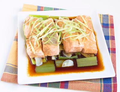 Chinese food - Steamed salmon