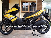 Gallery Foto Yamaha Aerox 155 VVA Yellow R-Version MY 2018... Kok sedap di pandang ya?