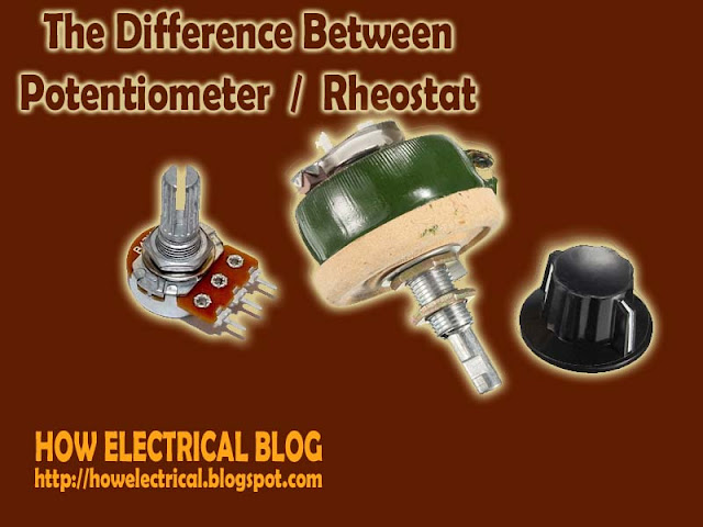 potentiometer and rheostat
