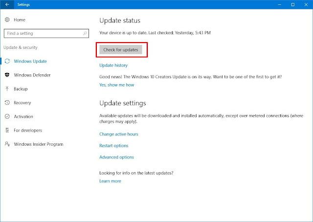 windows 10 updates download