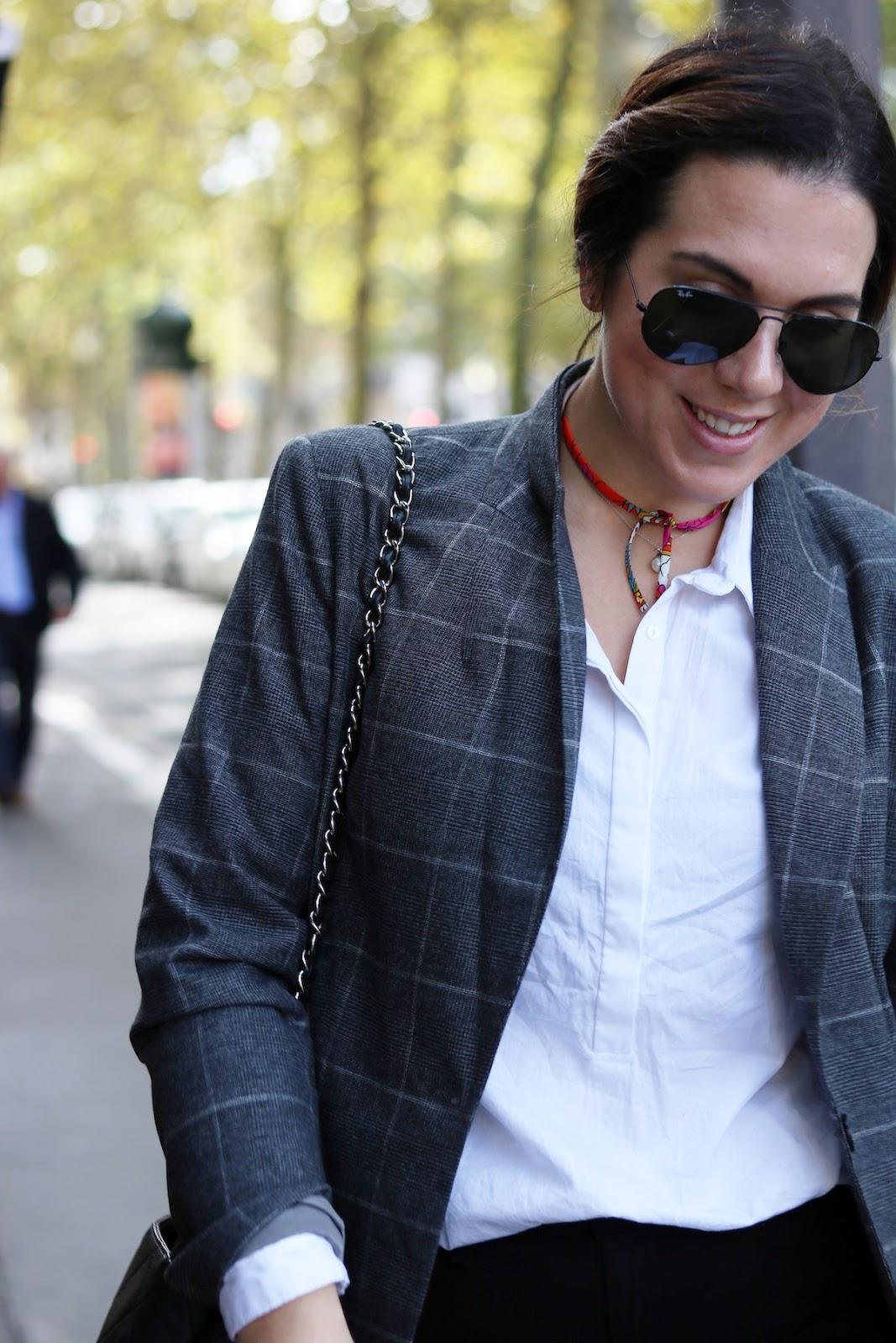 Le Chateau glen check plaid blazer outfit vancouver fashion blogger paris