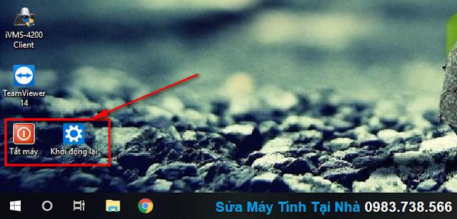 Shortcut Shutdown và Restart máy tính ngoài màn hình Desktop