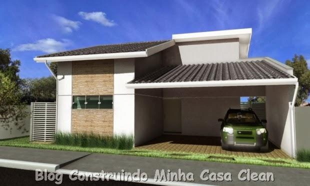 Construindo minha casa clean 20 fachadas de casas for Modelos de fachadas para casas pequenas