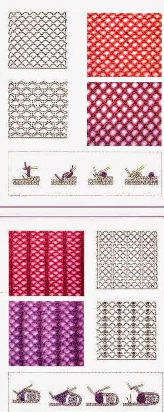 48 patrones de puntos crochet | Todo crochet