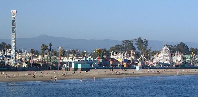 Cidade turística Santa Cruz na Califórnia