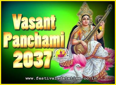 2037 Vasant Panchami Puja Date & Time, 2037 Vasant Panchami Calendar