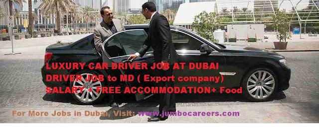luxury car driver job in dubai,