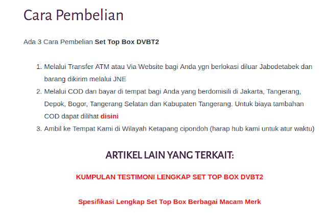 agen set top box tv digital