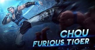 Download Script Skin Chou - Furious Tiger (Mobile Legend)