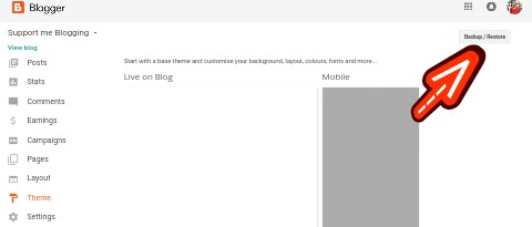 Blogger Theme backup Kaise Kare
