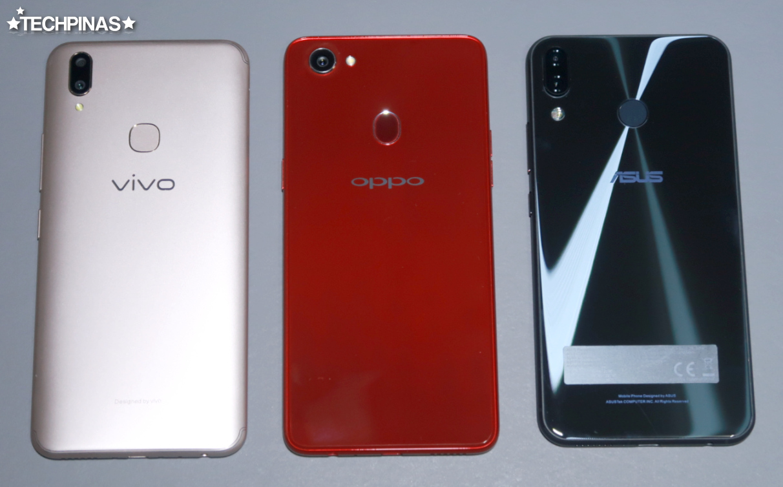 Vivo V9 vs OPPO F7 vs Asus ZenFone 5